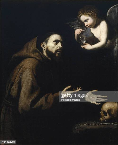 Francis of Assisi and the angel with the water bottle 16361637 Found in the collection of the Museo del Prado Madrid