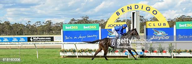 Francis of Assisi ridden by Kerrin McEvoy wins Jayco Bendigo Cup at Bendigo Racecourse on October 26 2016 in Bendigo Australia