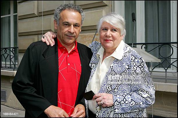 Francis Perrin and Francoise Seigner at Commemorative Plaque Tribute To Louis Seigner