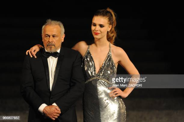 Francis Perrin and Gaia Weiss in Dom Juan, drama by Moliere directed by Francis Huster and presented at the Nights of the Citadel, in Sisteron in...