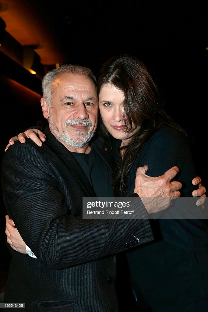Francis Perrin and Marie Moute attend 'Mongeville TV Show : La Nuit Des Loups' Private Screening at Club 13 on April 4, 2013 in Paris, France.