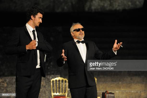 Francis Perrin and Sylvain Mossot in Dom Juan, drama by Moliere directed by Francis Huster and presented at the Nights of the Citadel, in Sisteron in...