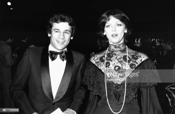Francis Perrin et Annie Duperey au Gala de l'Union le 24 juin 1974 à Paris France