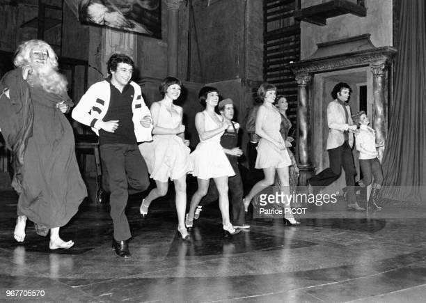 Francis Perrin lors de la 1ère de 'Tutti Quanti' au théâtre à Paris le 22 avril 1975 France