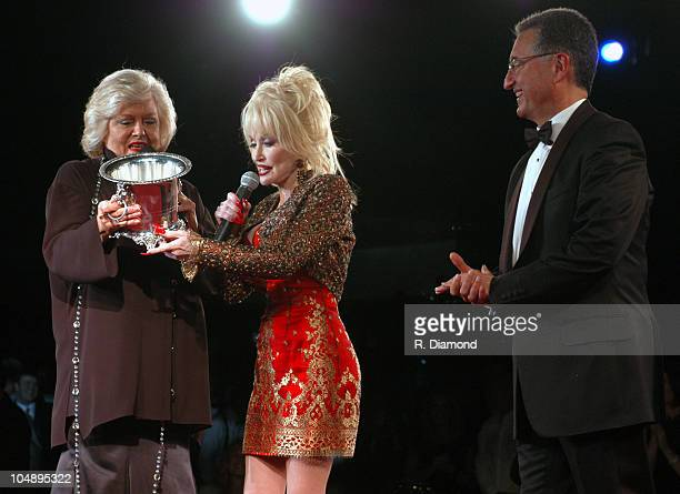 Francis Preston Dolly Parton and Del Bryant during 2003 BMI Country Music Awards at BMI Nashville in Nashville Tennessee United States