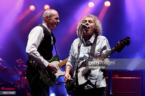 Francis Rossi and Alan Lancaster of Status Quo performs on stage in concert at Manchester Apollo on March 6 2013 in Manchester England