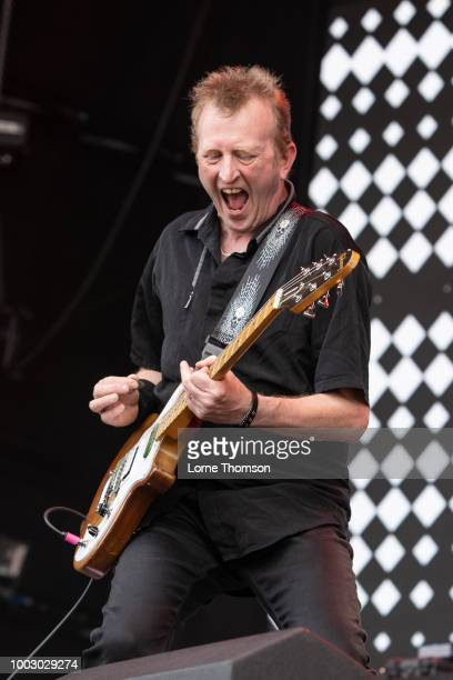 Francis Rossi of Status Quo performs live on stage duuring Rewind Scotland 2018 at Scone Palace on July 22 2018 in Perth Scotland