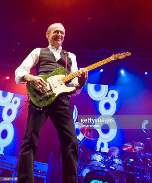 Francis Rossi of Status Quo performs on stage at the LG Arena on December 5, 2009 in Birmingham, England.