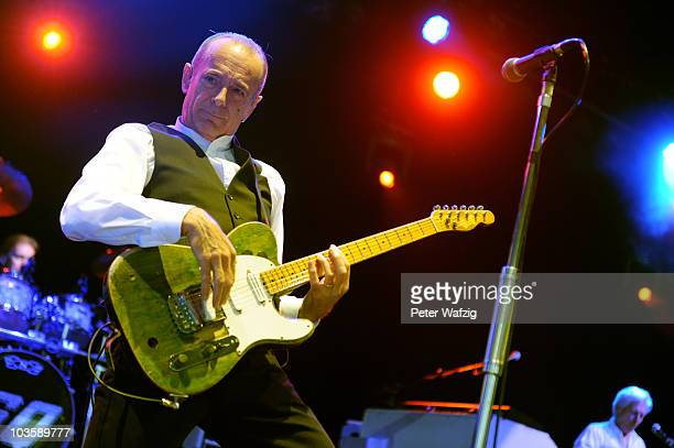 Francis Rossi of Status Quo performs on stage at the Museumsmeile on August 24 2010 in Bonn Germany