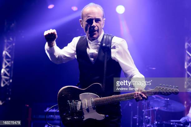 Francis Rossi of Status Quo performs on stage in concert at Manchester Apollo on March 6 2013 in Manchester England