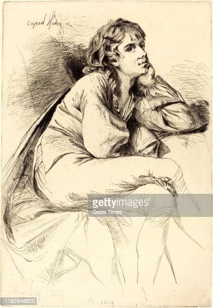 Francis Seymour Haden after Joseph Wright British Thomas Haden of Derby etching and drypoint on laid paper