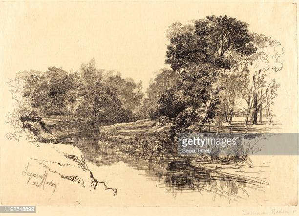 Francis Seymour Haden British A River in Ireland etching with drypoint