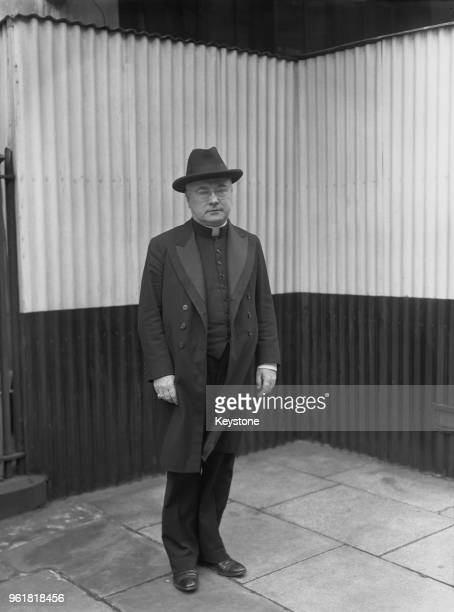 Francis Spellman the Archbishop of New York in London for a tour of US hospitals and airfields in the UK during World War II 4th March 1944 He has...