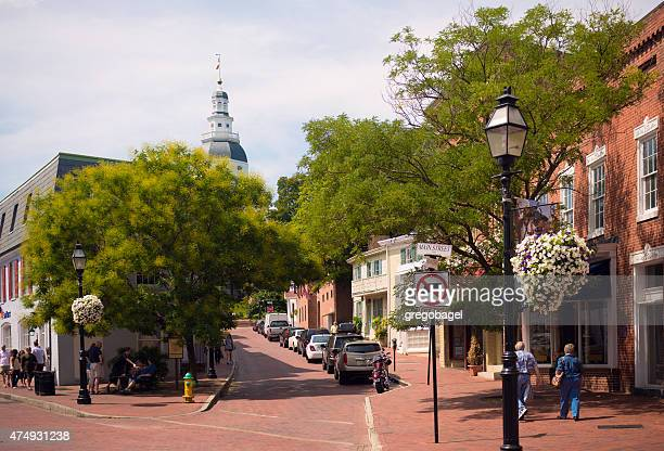 Francis Street leading up to Maryland State House in Annapolis