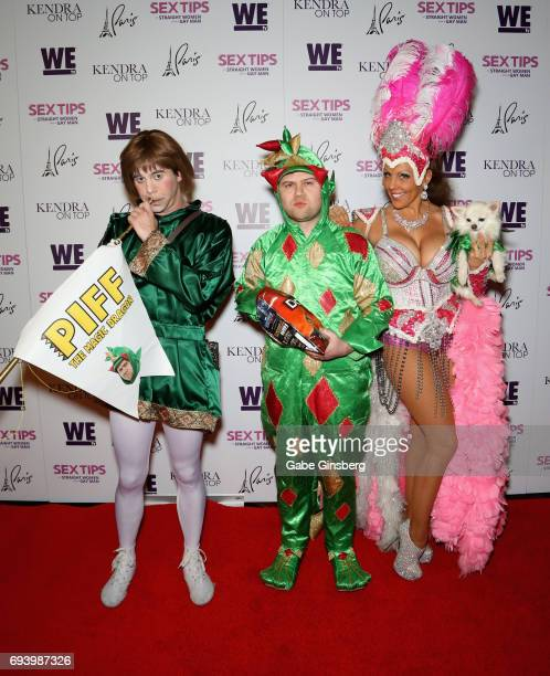 Francis the Page comedian Piff the Magic Dragon and entertainer Jade Simone with Mr Piffles attend the premiere of 'Sex Tips for Straight Women from...