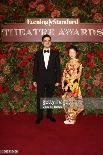 Francis Turnly and Guest arrive at The 64th Evening Standard Theatre Awards at the Theatre Royal Drury Lane on November 18 2018 in London England