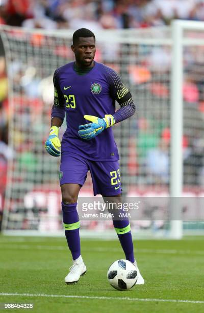 Francis Uzoho of Nigeria during the International Friendly between England and Nigeria at Wembley Stadium on June 2 2018 in London England