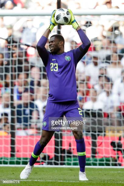 Francis Uzoho of Nigeria during the International Friendly match between England v Nigeria at the Wembley Stadium on June 2 2018 in London United...