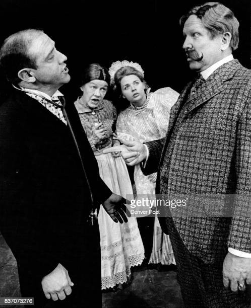 Francis Van Derbur right in the title role of Life With Father attempts to tell the doctor played by Ned Austin how to treat his wife Interested...