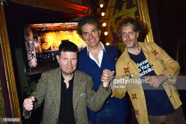 Francis Van Listenborg, Jean Pierre Marois from Les Bains and Fabrice de Rohan Chabot attend the 'Bains Douches Embellishing Party' At Les Bains...