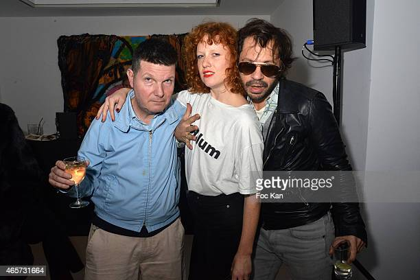 Francis van Litsenborgh Kira Lillie and Olivier Zahm attend Purple Thaddaeus Ropac cocktail party for Painter Bjarne Melgaard Paris Fashion Week...