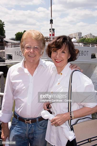 Francis Vandenhende and Denise Fabre attend the 3th White Brunch by Yachts de Paris and La petite Maison de Nicole in Paris