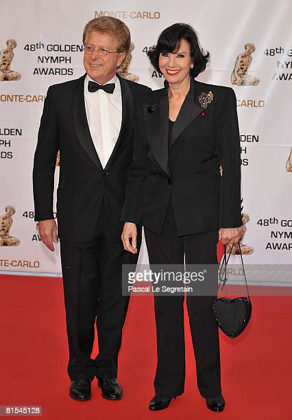 Francis Vandenhende and Denise Fabre attend the Golden Nymph awards ceremony during the 2008 Monte Carlo Television Festival held at Grimaldi Forum...