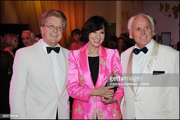 Francis Vandenhende Denise Fabre and Yves Piaget attend the 63rd Red Cross Ball at the Sporting MonteCarlo in Monaco