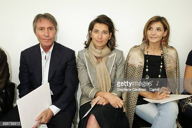 Francis Veber and Clotilde Coureau attend the Chanel Haute Couture 20052006 Fall/Winter fashion collection