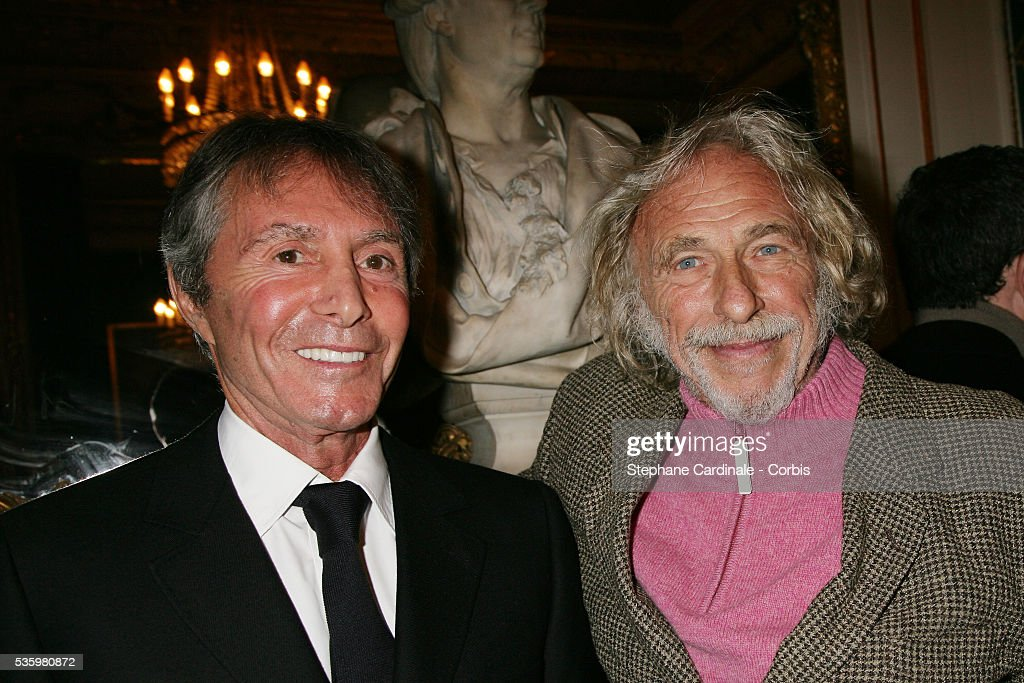 Francis Veber and Pierre Richard at the 'Henri Jeanson' prize ceremony.