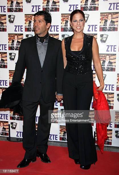 Francis Vinolo and Pastora Soler attend David Bisbal's concert at Teatro Real on November 1 2011 in Madrid Spain