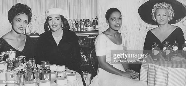 Francis Wallace, Mary Cunningham, Marguerite Belafonte and Leslye Winslow during the ninth annual cosmetic and drug show of The Pharmaceutical...