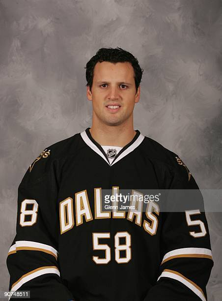 Francis Wathier of the Dallas Stars poses for his official headshot for the 20092010 NHL season