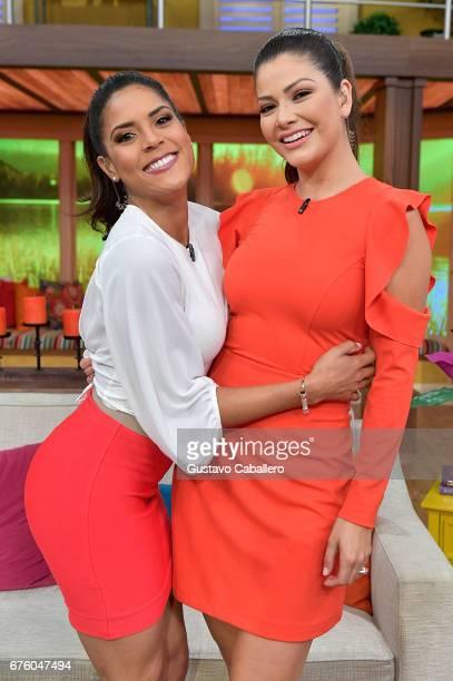 Francisca Lachapel and Ana Patricia attends the Univision's 'Despierta America' on May 2 2017 in Miami Florida