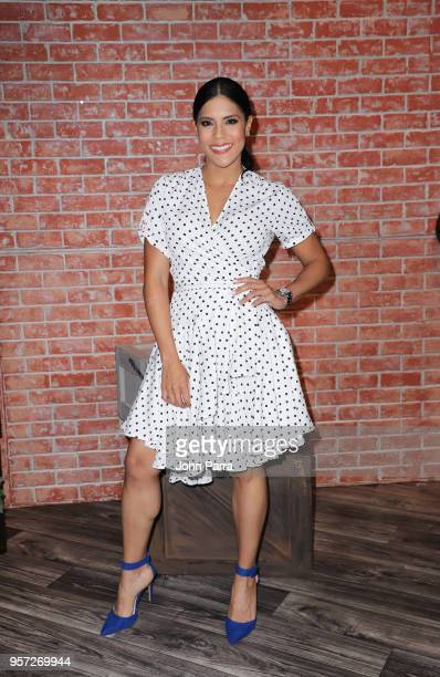 Francisca Lachapel are seen during Facebook Live Nuestra Belleza Latina reunion at Univision's Newsport Studios on May 10 2018 in Miami Florida