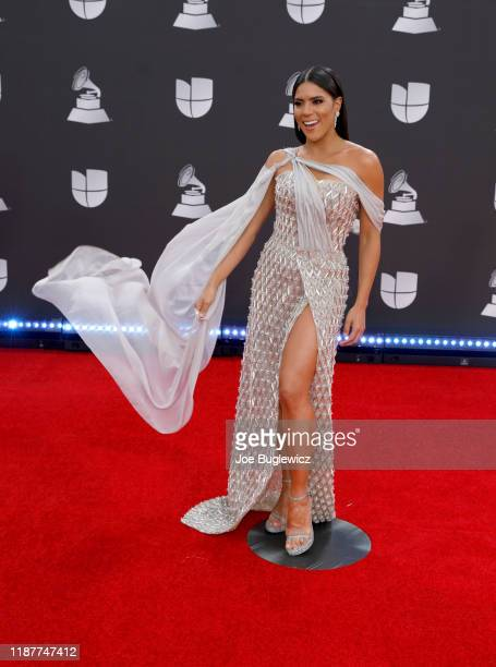 Francisca Lachapel attends the 20th annual Latin GRAMMY Awards at MGM Grand Garden Arena on November 14 2019 in Las Vegas Nevada