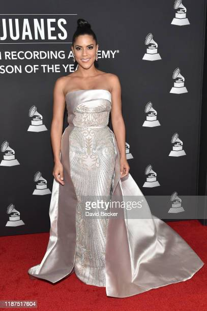 Francisca Lachapel attends the Latin Recording Academy's 2019 Person of the Year gala honoring Juanes at the Premier Ballroom at MGM Grand Hotel...