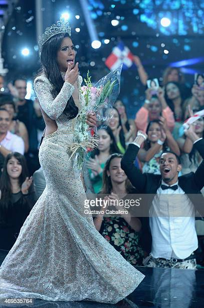 Francisca Lachapel is crowned Queen during the Nuestra Belleza Latina Grand Finale on April 12 2015 in Miami United States