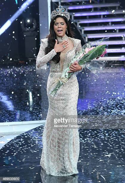 Francisca Lachapel is crowned the winner of Nuestra Belleza Latina Grand Finale at Univision Studios on April 12 2015 in Miami Florida