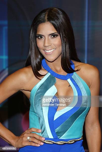 Francisca Lachapel is seen arriving at Univision's Premios Juventud 2015 at the Bank United Center on July 16 2015 in Miami Florida