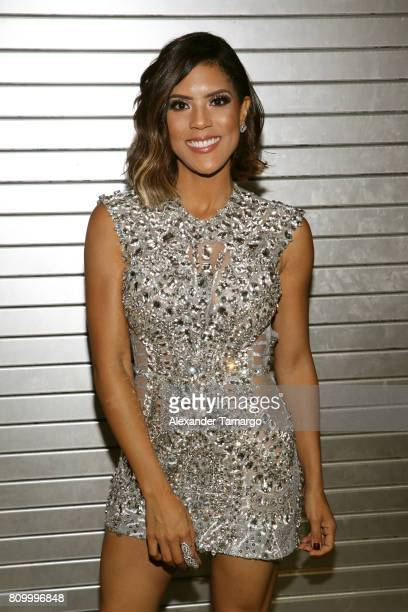 Francisca Lachapel is seen backstage during Univision's Premios Juventud 2017 Celebrates The Hottest Musical Artists And Young Latinos ChangeMakers...
