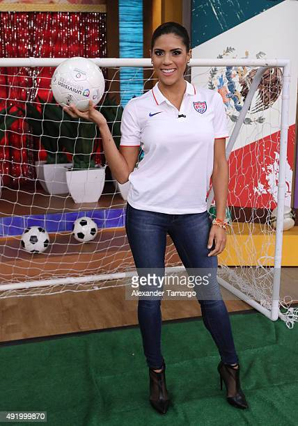 Francisca Lachapel is seen on the set of 'Despierta America' at Univision Studios on October 9 2015 in Miami Florida