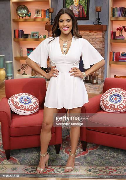 Francisca Lachapel is seen on the set of 'Despierta America' to promote the film 'Neighbors 2 Sorority Rising' at Univision Studios on May 5 2016 in...