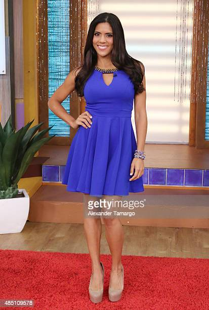 Francisca Lachapel visits the set of 'Despierta America' at Univision Studios on August 24 2015 in Miami Florida