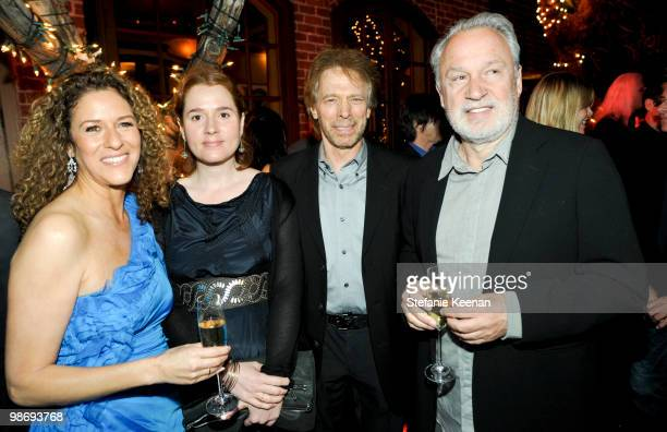 Francisca Moroder Alexander Bruckheimer Jerry Bruckheimer and Giorgio Moroder attend Giorgio Moroder's Surprise Birthday Party at Spago on April 26...