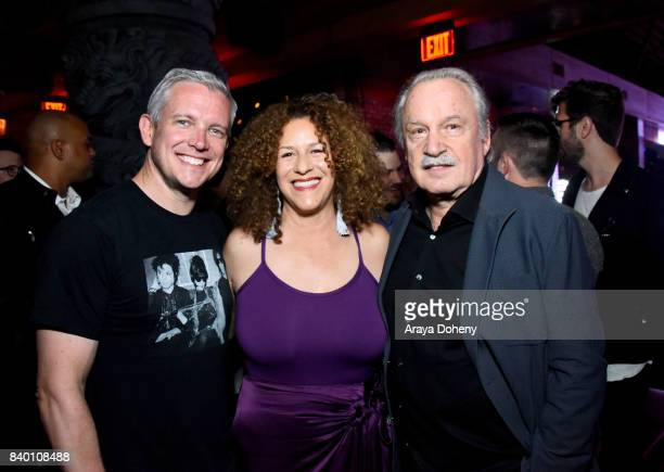 Francisca Moroder and Giorgio Moroder attend the VMA after party hosted by Republic Records and Cadillac at TAO restaurant at the Dream Hotel on...
