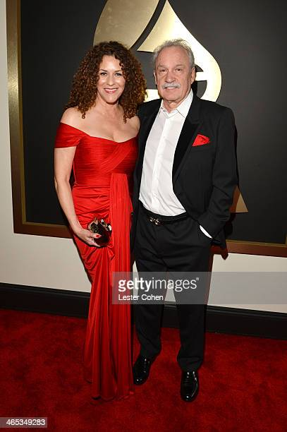 Francisca Moroder and record producer Giorgio Moroder attend the 56th GRAMMY Awards at Staples Center on January 26 2014 in Los Angeles California