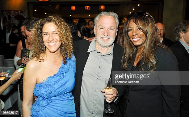 Francisca Moroder Giorgio Moroder and Donna Summer attend Giorgio Moroder's Surprise Birthday Party at Spago on April 26 2010 in Beverly Hills...