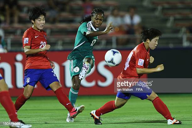 Francisca Ordega of Nigeria in action during the FIFA U-20 Women's World Cup Japan 2012, Group B match between Nigeria v Korean Republic at Komaba...