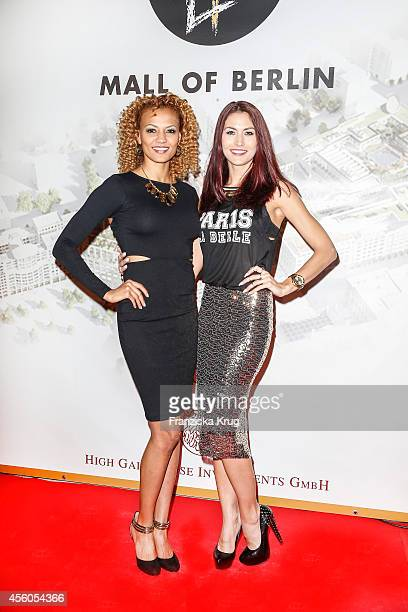 Francisca Urio and Fiona Erdmann attend the 'LP 12 Mall of Berlin' PreOpening on September 24 2014 in Berlin Germany